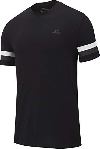 Nike M Nk Sb Tee Sleeve Stripe - black/thunder grey, Größe:L - Sleeve Grey Stripe Shirt