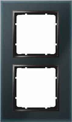 Price comparison product image Hager B7 – Frame 2 Elements Glass Anthracite
