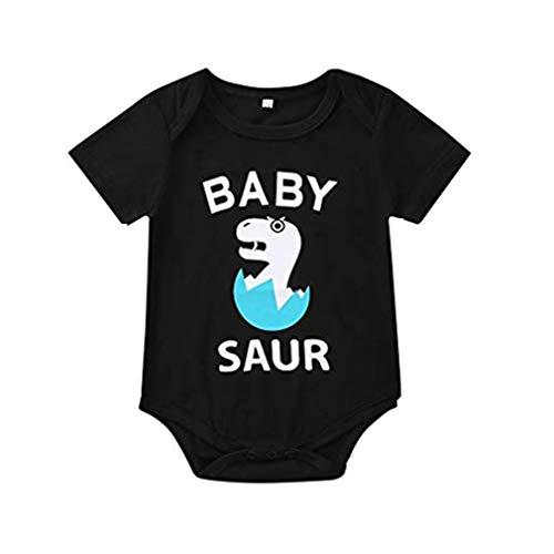 r und ich Baby Body Brief gedruckt Strampler Kurzarm Overall passende Familie Kleidung Casual Strampler ()