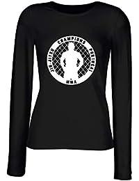 T-Shirt para Las Mujeres Manga Larga Negra TAM0190 JIU Jitsu