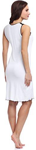 Merry Style Damen Nachthemd MS10-101 Weiß