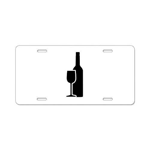 CafePress-Wein Glas Aluminium Nummernschild-Aluminium Nummernschild, vorne Nummernschild, Vanity Tag