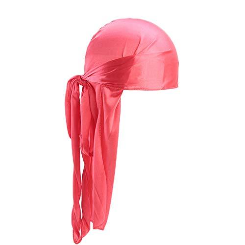 XuxMim Männer/Frauen Silk Polyester Bandana Hut Durag Rag Tail Headwrap Headwear Geschenk
