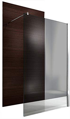 Duschabtrennung Walk-In Nano Echtglas EX101 - graues Glas - Breite wählbar, Breite Walk-In:1400mm