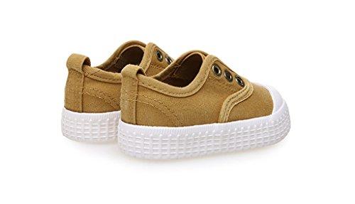 ALUK- Baby Schuhe - Kinder Leinwand Schuhe Lernen Lazy Schuhe Casual Schuhe ( Farbe : Turmeric - color , größe : 19 ) Turmeric - color