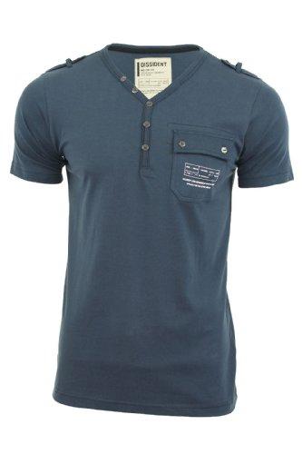 Dissident Herren T-Shirt 'Fender' Kurzärmelig Mitternachtsblau