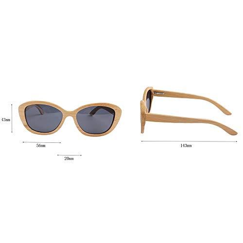 GSSTYJ Sonnenbrille polarisierend, UV400 leichte Bambus-Sonnenbrille handgefertigt, als Geschenk für Freunde und Verwandte Reisen, Sport und Outdoor-Aktivitäten für Mann und Frau (Farbe : Nature)