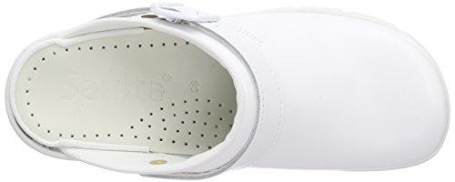 Sanita San-Duty Open-OB, Sabots Mixte Adulte Blanc (White 1)