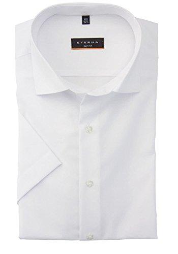 ETERNA Kurzarm Hemd SLIM FIT unifarben Weiß