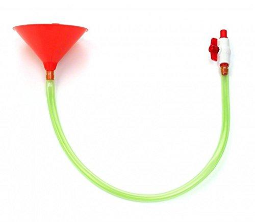 Bierbong von PRTY: Alkoholtrichter mit großer Kapazität für Junggesellenabschied und Brautpartys, Feiern und Spaßtreffen - langes Trinkspiel, Schlauch mit Stopper-Zahpfhahn - BPA-frei; mit Kunststoffrohr und Mundstück (Bier Pong Waschen)
