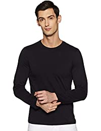 Qube By Fort Collins Men's Solid Regular Fit T-Shirt