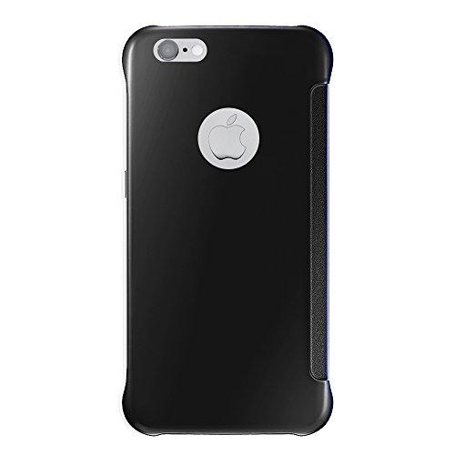 VComp-Shop® Silikon Handy Schutzhülle mit Klappe für Apple iPhone 6/ 6s + Großer Eingabestift - SCHWARZ SCHWARZ