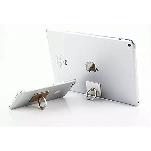 EQLEF® 2 Pezzi di anello universale del supporto del basamento dell'anello della presa del supporto del metallo Phone Holder telefono Stander -