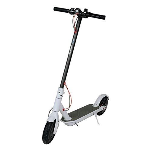IO Intelligence 250W Elektro Scooter XL   2-Jahre-Garantie   für Erwachsene in weiß - optimaler Elektroroller für größere Menschen. Vorder & Rücktrittbremse, Licht vorne & hinten.<20kmh