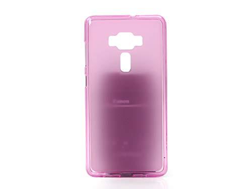etuo Handyhülle für ASUS Zenfone 3 Deluxe (ZS570KL) - Hülle FLEXmat Case - Rosa - Handyhülle Schutzhülle Etui Case Cover Tasche für Handy