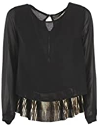 YES-ZEE Blusa Donna XS Nero C006 Eh00 Autunno Inverno 2017/18
