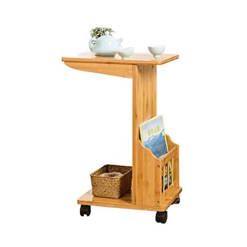 Table d'appoint Meuble d'appoint de canapé Amovible Etagère à thé Simple dans Le Salon Table de Chevet Poulie Mobile