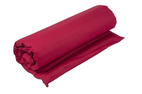 Futon Matte 100x200 mit Buchweizenfüllung und Bezug aus roter Baumwolle -