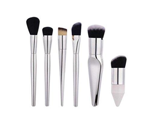 HZS Ensemble de Brosse à Maquillage Set de brosses Ensemble de Brosse Maquillage de 6 pièces Kits de Maquillage pour Visage et Oeil Ensemble de Brosse à Maquillage Naturel et Doux Kabuki