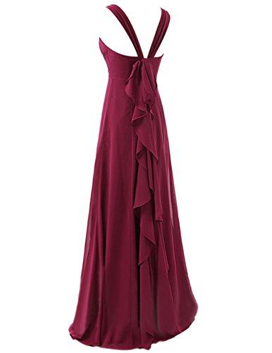 Dresstells Robe de cérémonie Robe de soirée avec bretelles forme empire longueur ras du sol Vert