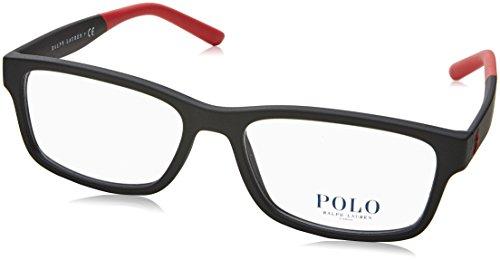 Preisvergleich Produktbild Polo Ralph Lauren - PH 2169, Rechteckig, Propionat, Herrenbrillen, MATTE BLACK(5284 A), 56/17/150