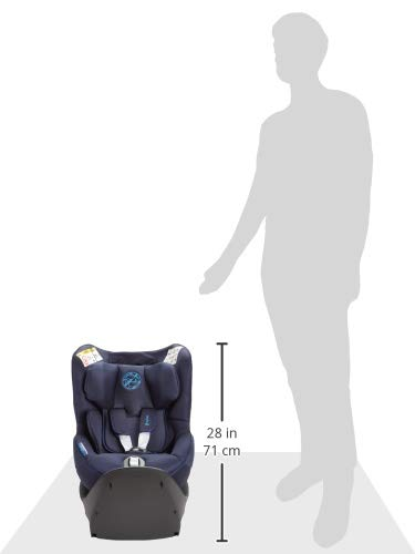 CYBEX Gold Sirona S i-Size Car Seat with 360° Swivel Mechanism and ISOFIX, From Birth to approx. 4 Years, Up to Max. 105 cm Height, Indigo Blue Cybex  8