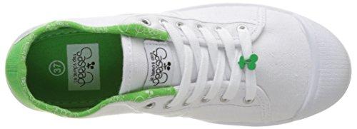 Il Tempo Delle Ciliegie Damen Basic 02 Slide Flach, Large White (slide Green)