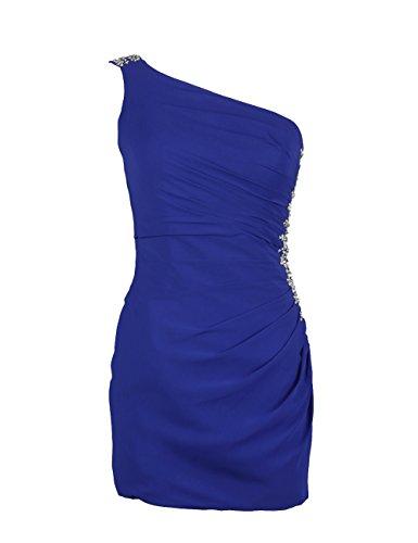 Dressystar Robe de femme,fourreau, robe de bal/cocktail moulante courte,en Mousseline Bleu Saphir