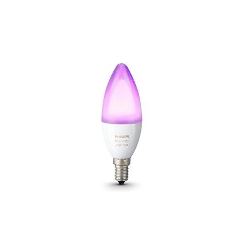 Philips Hue White and Color Ambiance - Bombilla LED individual ( 1 x 6.5 W, E14, iluminación inteligente - bombilla que cambia de color, compatible con Apple Home Kit y Google Home)