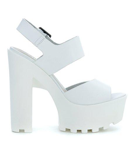 Sandalen Lipstik&Windsor Smith Flexie aus Leder in Weiss White