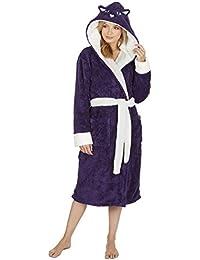 Albornoz con capucha para mujer, de Kate Morgan. Suave y cómodo