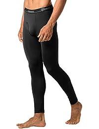 LAPASA Lot de 2 Pantalons Thermiques Homme Doublure Laine Polaire - Bas Caleçons Longs sous-Vêtements LÉGER ET Chaud M10&M56