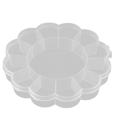 DealMux Kunststoff Haushalts Blumen-Form 13 Compartments Ohrring-Korn-Behälter-Speicher-Fall löschen