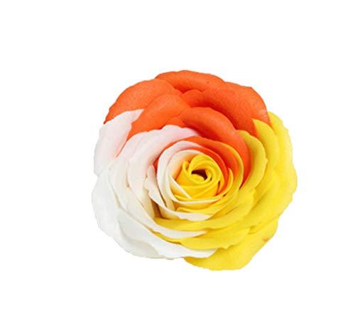 ZHHR Bunte Seifenblume Blumenkopf Muttertagsgeschenkideen Handgemachter Rosafarbener Blumenkopf mit Basis Hochzeitsgeschenk Weihnachtsgeschenk 16