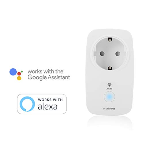 Smartwares Smart Home Pro | Funk Dimmer-Steckdose, steuerbar via Smart Home Pro Fernbedienung | Alexa kompatibel & App steuerbar via Basisstation
