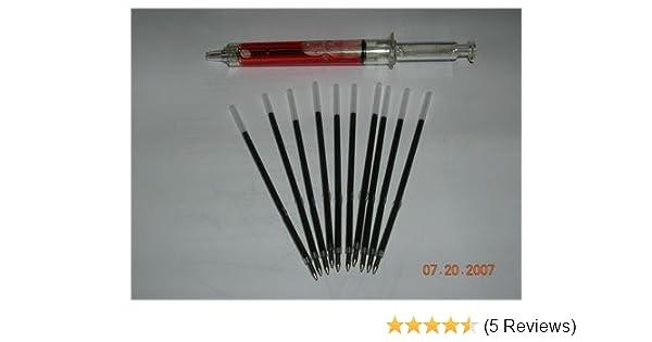 Qty 10  Reception Ball Point Pen Refills Black Ink ballpoint Length 107mm