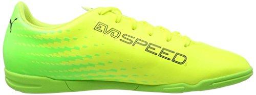 Puma Herren evoSPEED 17.5 IT Fußballschuhe, 44.5 EU Gelb (safety Yellow-Puma black-green gecko 01)