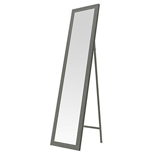 Espejo de pie nórdico Gris de Madera para Dormitorio DE 37 x 157 cm Arabia - LOLAhome