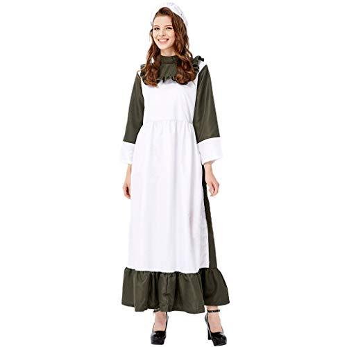 Mumie Kostüm Tutu - CANDLLY Halloween Cosplay Kleider Damen Frauen Langer Rock Maid's Dress Cosplay Halloween Maid's Kleidung Festival Weiß