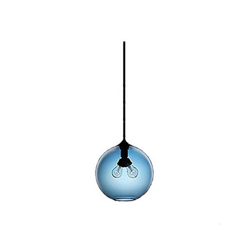 HJXDtech-Neue Glaslampenschirm DIY Kronleuchter Loft Pendelleuchte Retro Deckenleuchte Fit 2 Glühbirne (Blau) (Kronleuchter Blau)