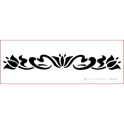 Schablone Shabby Chic Kreativbaukasten, 01-001-0043, Blumenornament Jugendstil als Wandschablone,...