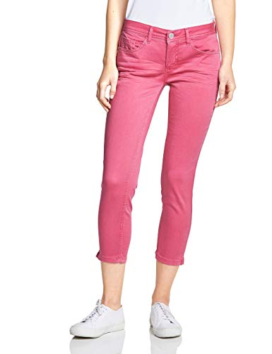 Street One Damen 372121 York Slim Jeans, Blossom pink Soft wash, 33W/26L - Pink Denim