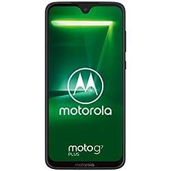 "Motorola Moto G7 Plus, Smartphone Android 9.0, Display 6,2"", Dual Camera da 16Mp, 4/64 GB, Dual Sim, Colore Deep Indigo [versione Italia]"