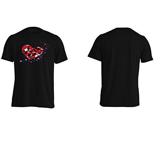 Ti Amo Cuore Coppia Arte Divertente Della Novità Epoca Uomo T-shirt a156m Black