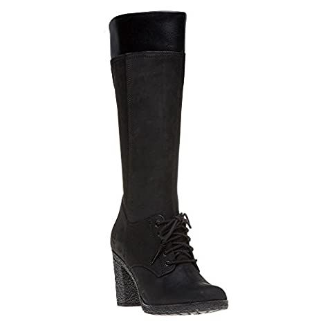 Timberland Femmes Noir Glancy Tall Lace with Zip Bottes-UK