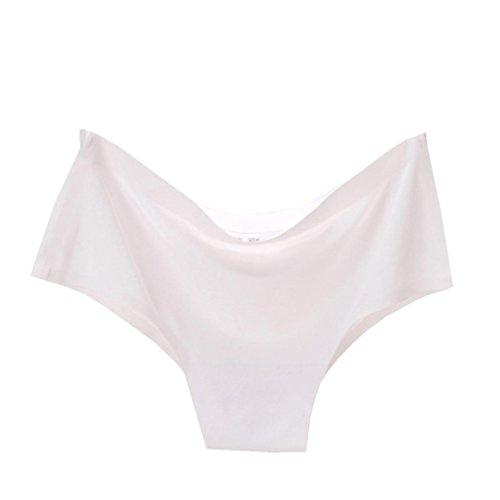 SANFASHION Damen Soft String Unterhose Seamless Lingerie Briefs Hipster Unterwäsche Höschen