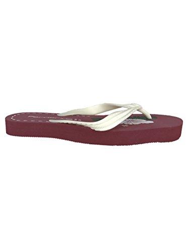 Fornarina Flip-Flops Rubber/Synthetic PEFTA2048 White, Red, Orange White/Red