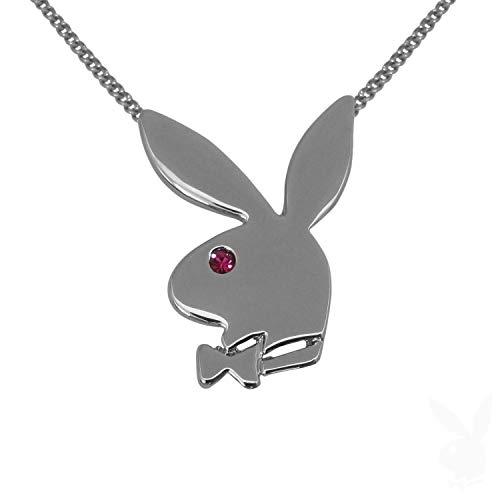PLAYBOY Halskette mit Bunny Anhänger und Kristall -