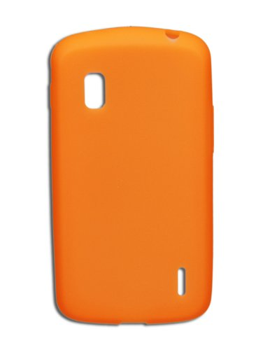 luxburg® in-colour design custodia cover per lg google nexus 4 e960 colore arancione, in silicone