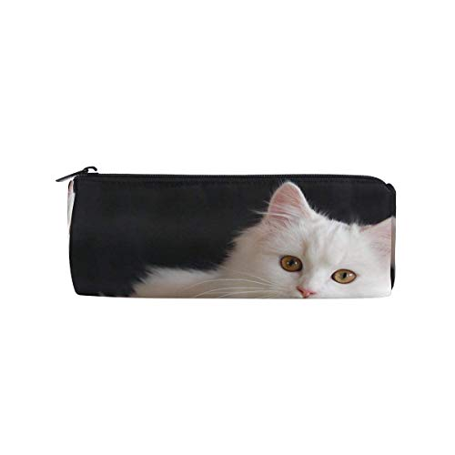 Pencil Case Lovely and Friendly Persian Cats School Pen Pouch Office Zippered Pencil Cases Holder Women Makeup Bag